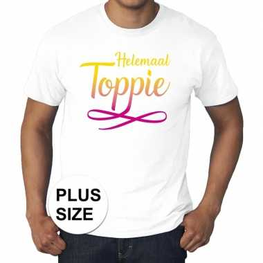 Toppers grote maten helemaal toppie t shirt wit heren