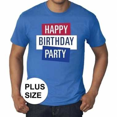 Toppers grote maten toppers happy birthday party heren t shirt offici