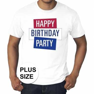 Toppers grote maten wit toppers happy birthday party t shirt officiee