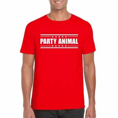 Toppers party animal t shirt rood heren