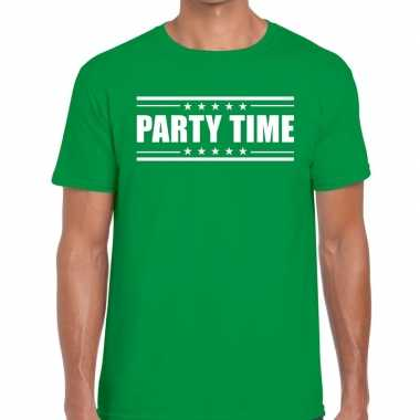 Toppers party time t shirt groen heren