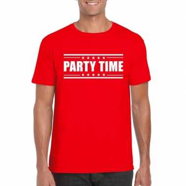 Toppers party time t shirt rood heren