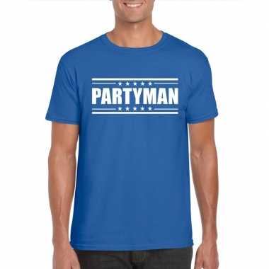 Toppers partyman t shirt blauw heren