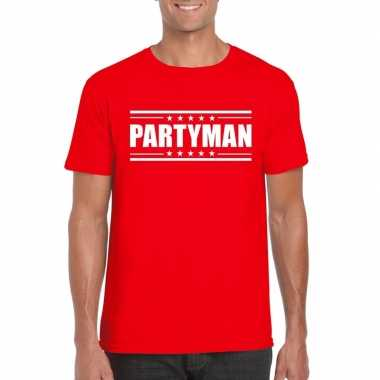 Toppers partyman t shirt rood heren