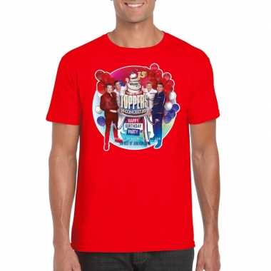 Toppers rood toppers concert officieel t shirt heren