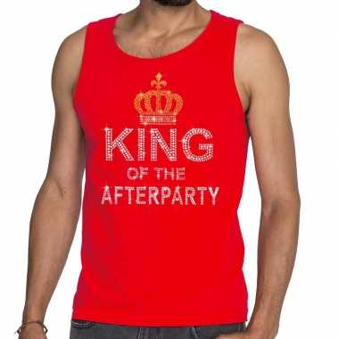 Toppers rood toppers king of the afterparty glitter tanktop shirt her