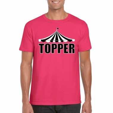 Toppers t shirt roze topper heren