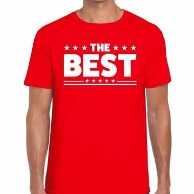 Toppers the best heren t shirt rood
