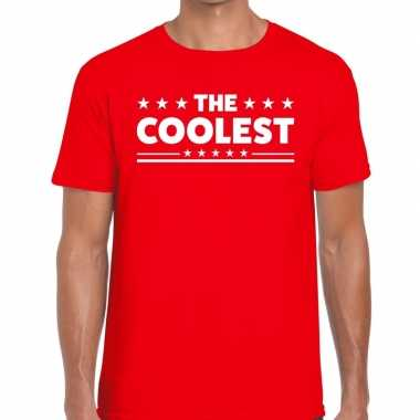 Toppers the coolest heren t shirt rood