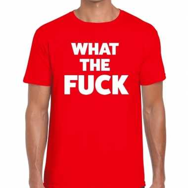 Toppers what the fuck heren t shirt rood