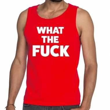 Toppers what the fuck tekst tanktop / mouwloos shirt rood