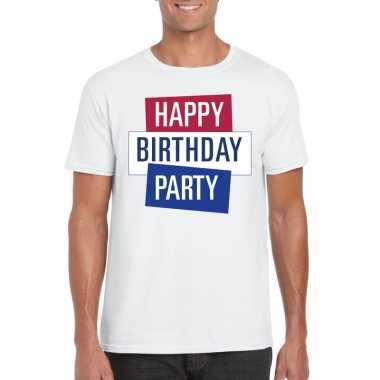 Toppers wit toppers happy birthday party heren t shirt officieel