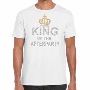 Toppers wit toppers king of the afterparty glitter t shirt heren