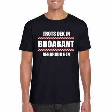 Trots dek broabant geborruh ben heren t shirt zwart
