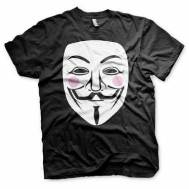 V for vendetta t shirt heren