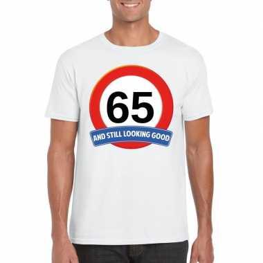 Verkeersbord jaar t-shirt wit heren 10107070