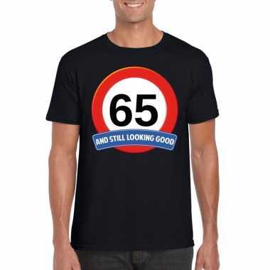 Verkeersbord jaar t-shirt zwart heren 10107043