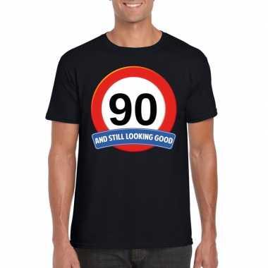 Verkeersbord jaar t-shirt zwart heren 10107050