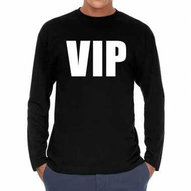 Vip long sleeve t shirt zwart heren