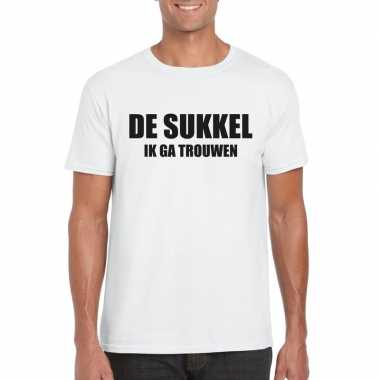 Vrijgezellenfeest sukkel shirt wit heren