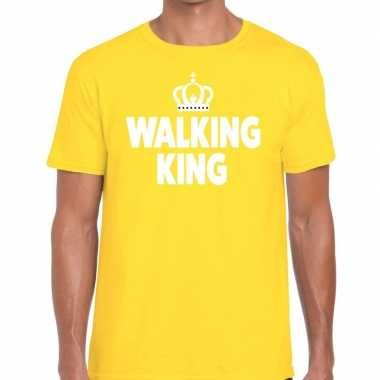 Wandel t shirt walking king geel heren