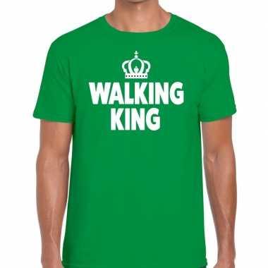 Wandel t shirt walking king groen heren
