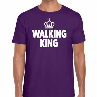 Wandel t shirt walking king paars heren