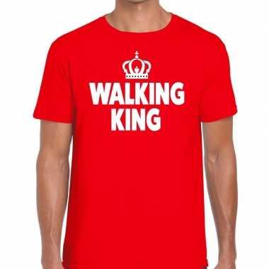 Wandel t shirt walking king rood heren