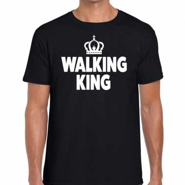 Wandel t shirt walking king zwart heren