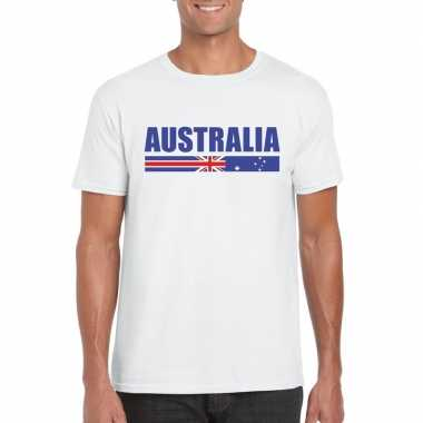 Wit australie supporter t shirt heren