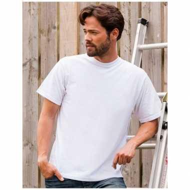 Wit grote maten t shirt xl