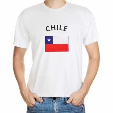 Wit heren t shirt chili