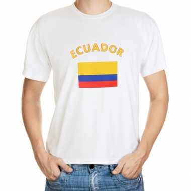 Wit heren t shirt ecuador
