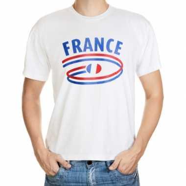 Wit heren t shirt frankrijk