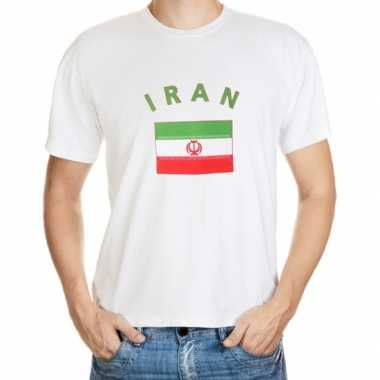 Wit heren t shirt iran