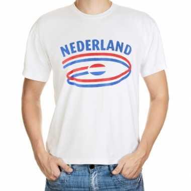 Wit heren t shirt nederland