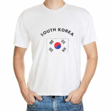Wit heren t shirt zuid korea