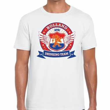 Wit holland drinking team rwb t shirt heren