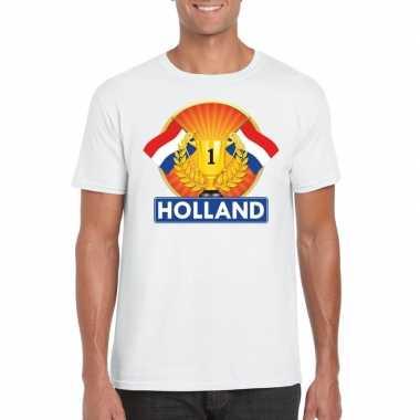 Wit holland supporter kampioen shirt heren