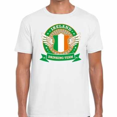 Wit ireland drinking team t shirt heren