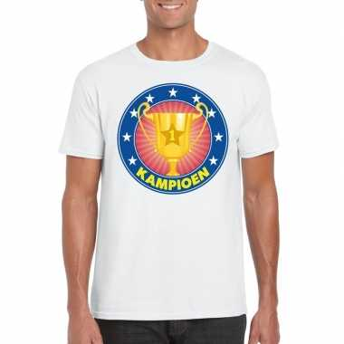 Wit kampioen shirt heren