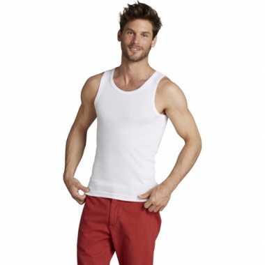 Wit mojito heren t shirt zonder mouwen