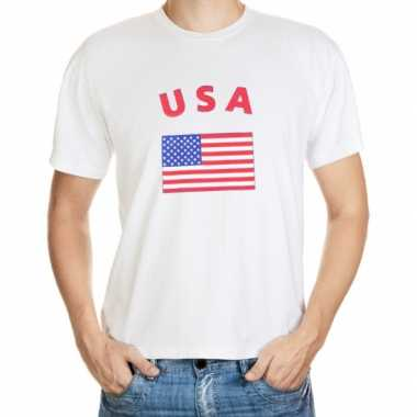 Wit t shirt amerika heren