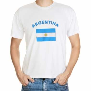 Wit t shirt argentinie heren