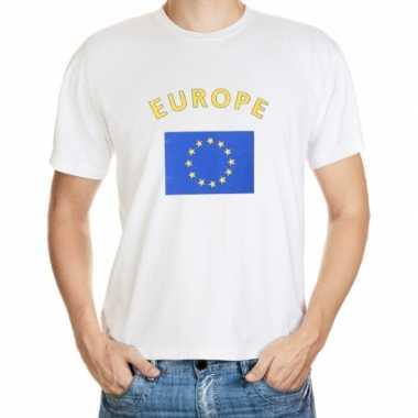 Wit t shirt europa heren