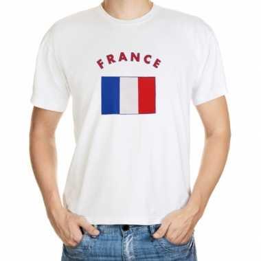 Wit t shirt frankrijk heren