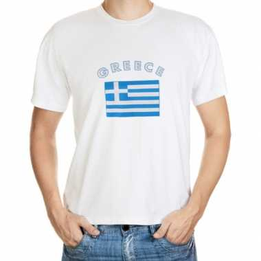 Wit t shirt griekenland heren