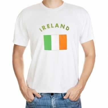 Wit t shirt ierland heren