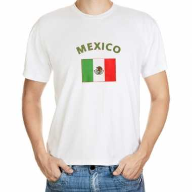 Wit t shirt mexico heren