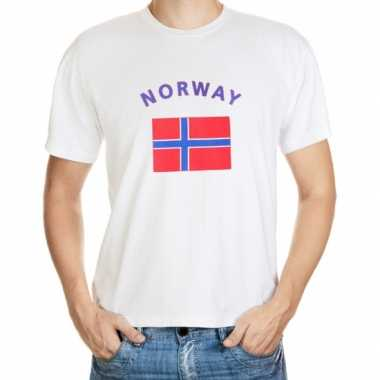 Wit t shirt noorwegen heren